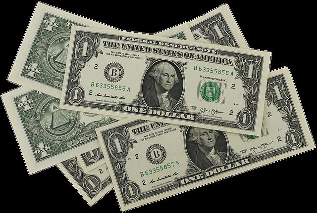 jednodolarové bankovky