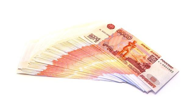 balíček ruských bankovek