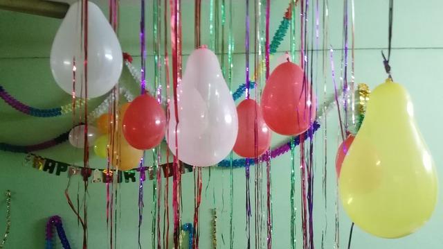 balonky na oslavu narozenin